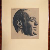 Framed portrait of Arthur Dent