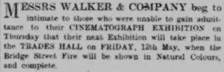 Advert from the Aberdeen Journal, 29 April 1899